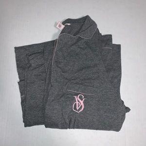 Victoria Secret Pajama Set Gray size L